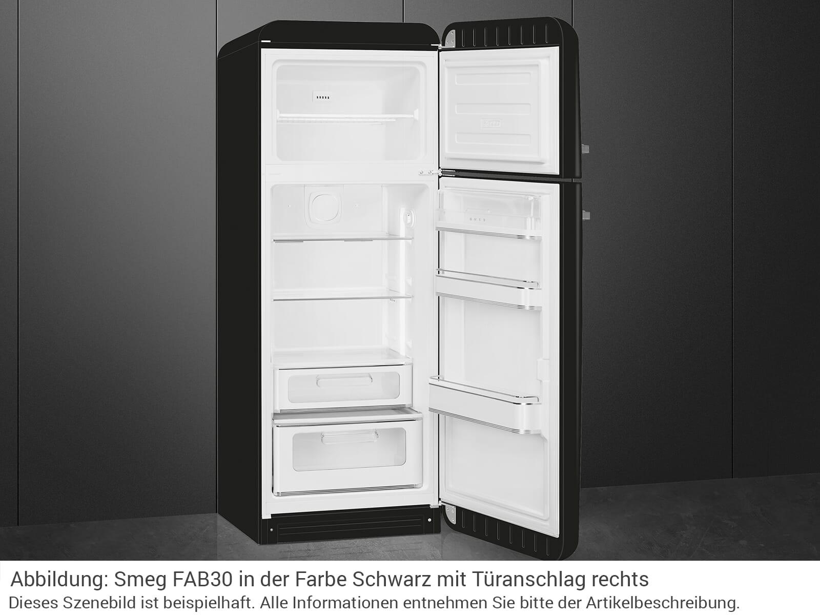 Smeg FAB30LBL3 Kühl-Gefrierkombination Schwarz