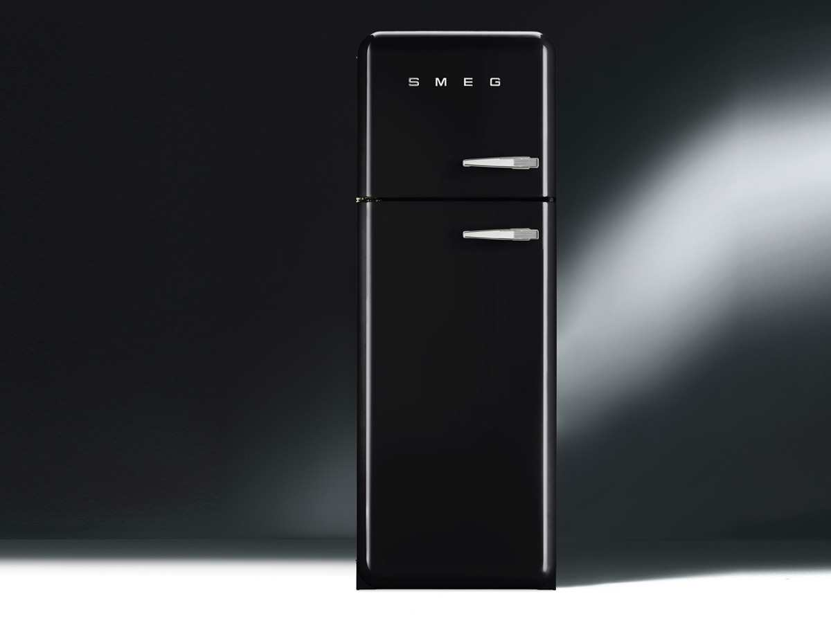 smeg fab30lne1 k hl gefrierkombination schwarz. Black Bedroom Furniture Sets. Home Design Ideas