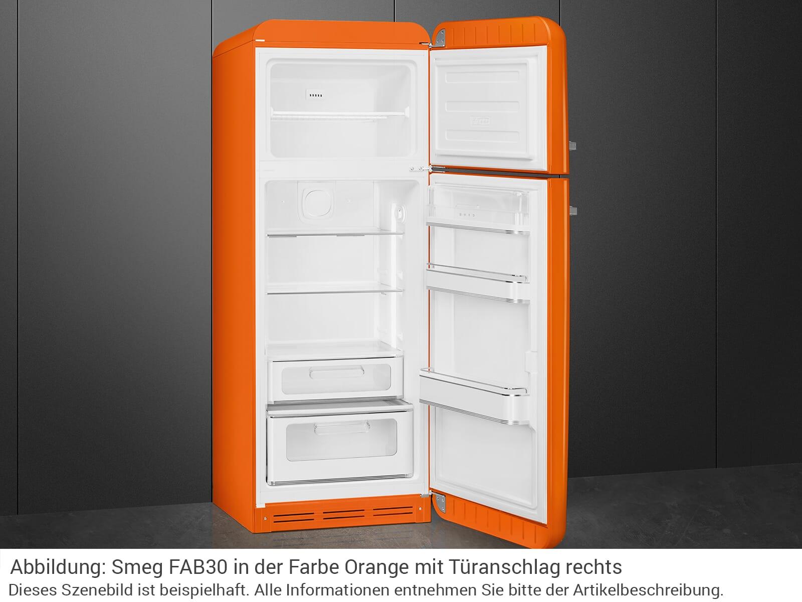 Smeg FAB30LOR3 Kühl-Gefrierkombination Orange