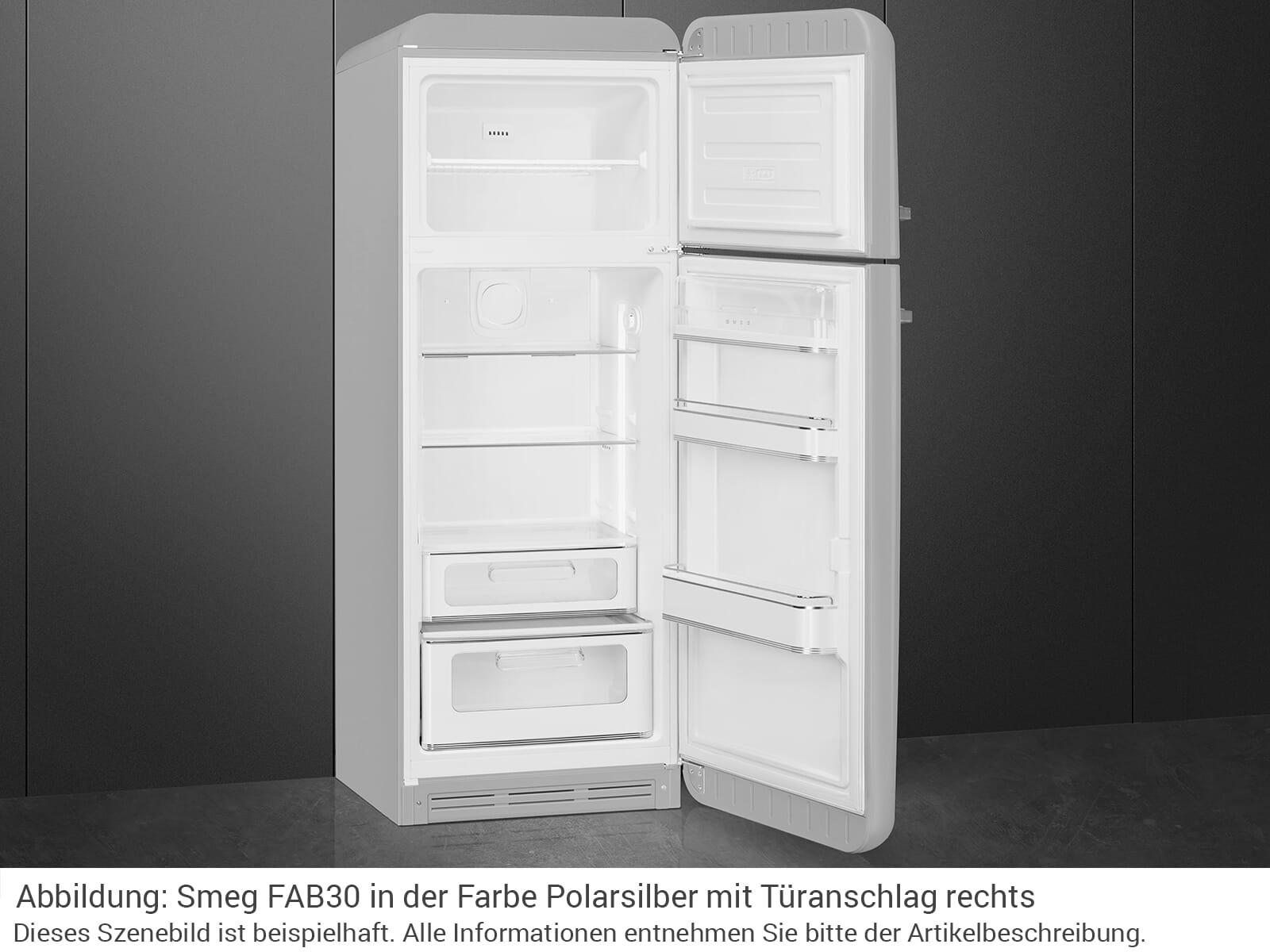 Smeg FAB30LSV3 Kühl-Gefrierkombination Polarsilber Metallic