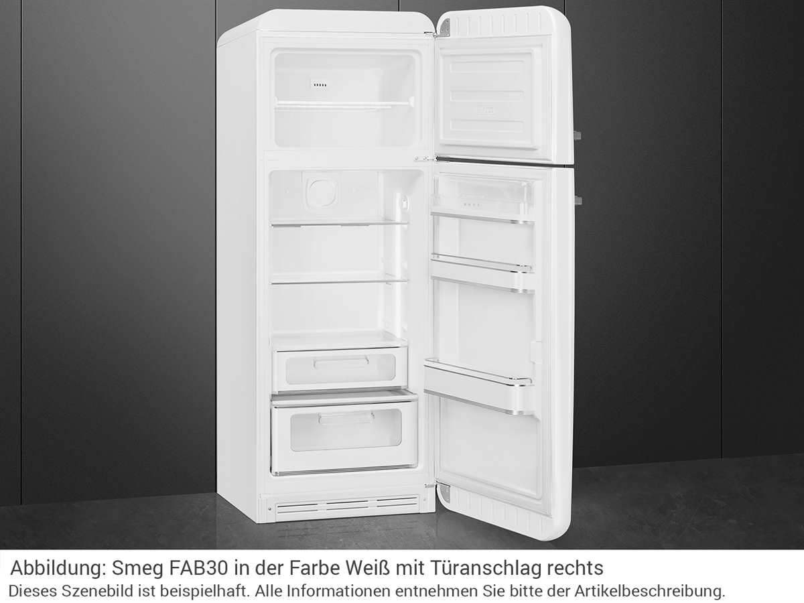 Smeg FAB30LWH3 Kühl-Gefrierkombination Weiß
