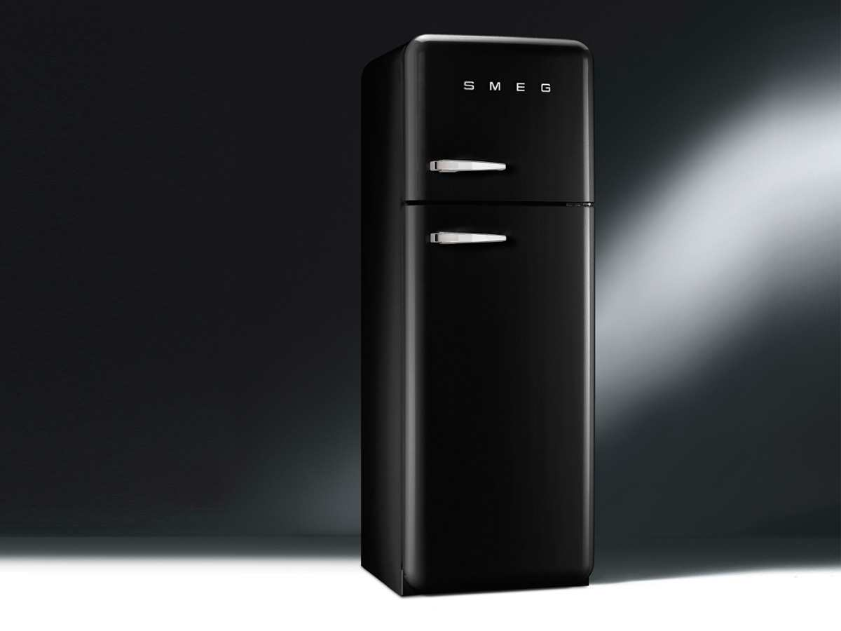 smeg fab30rne1 k hl gefrierkombination schwarz. Black Bedroom Furniture Sets. Home Design Ideas