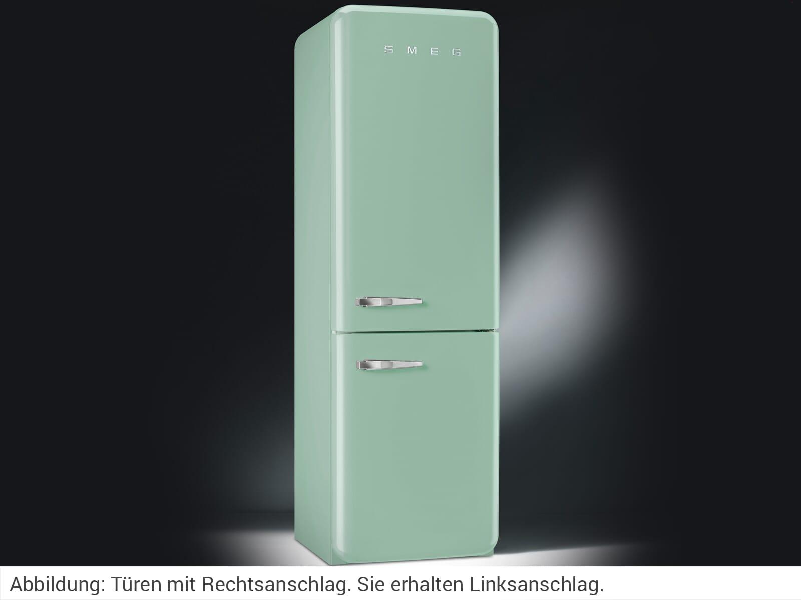 Smeg Kühlschrank Pastellgrün : Smeg fab lpg kühl gefrierkombination pastellgrün