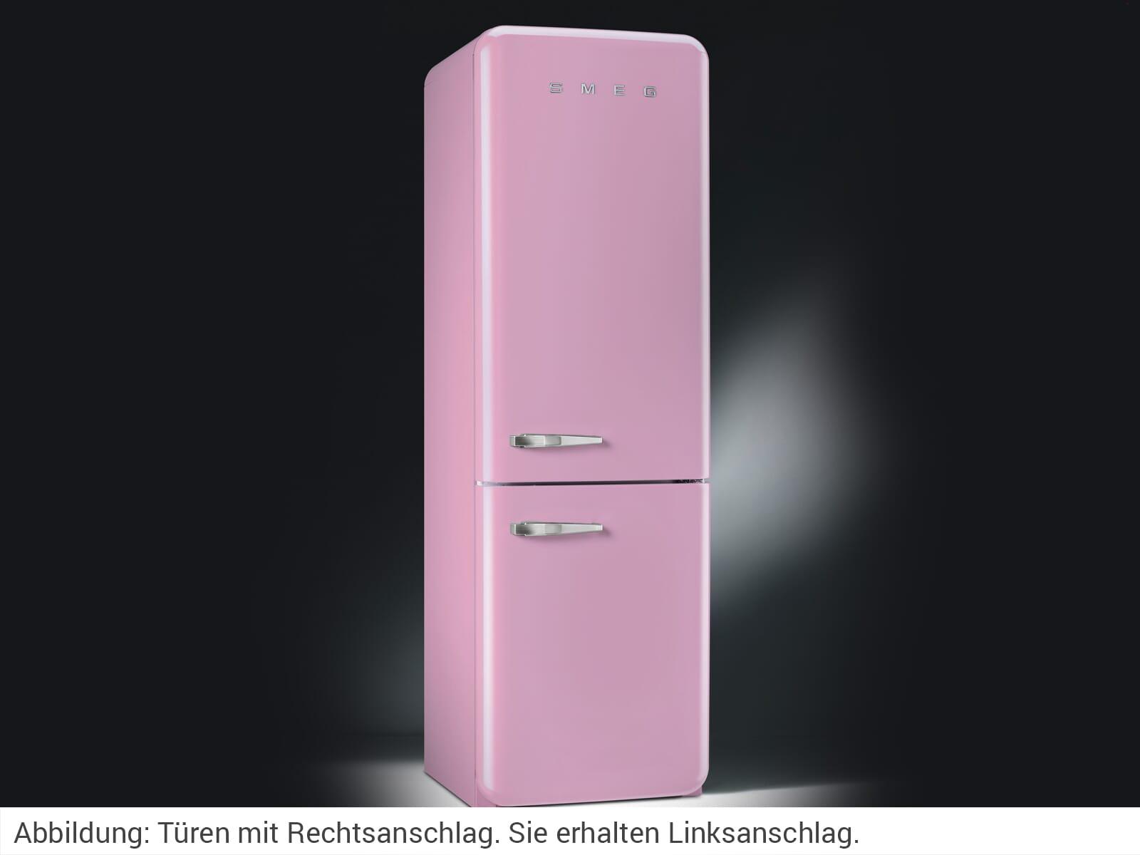 Smeg Kühlschrank Rosa Klein : Smeg fab lpk kühl gefrierkombination cadillac pink