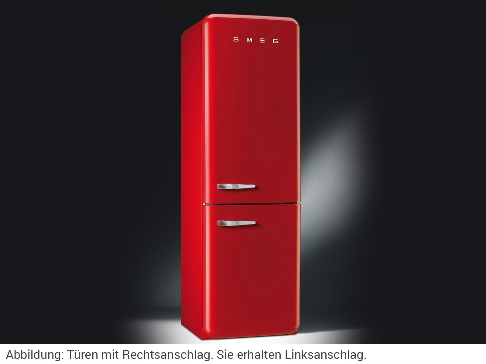 Smeg Kühlschrank Rot : Smeg fab lrd kühl gefrierkombination rot