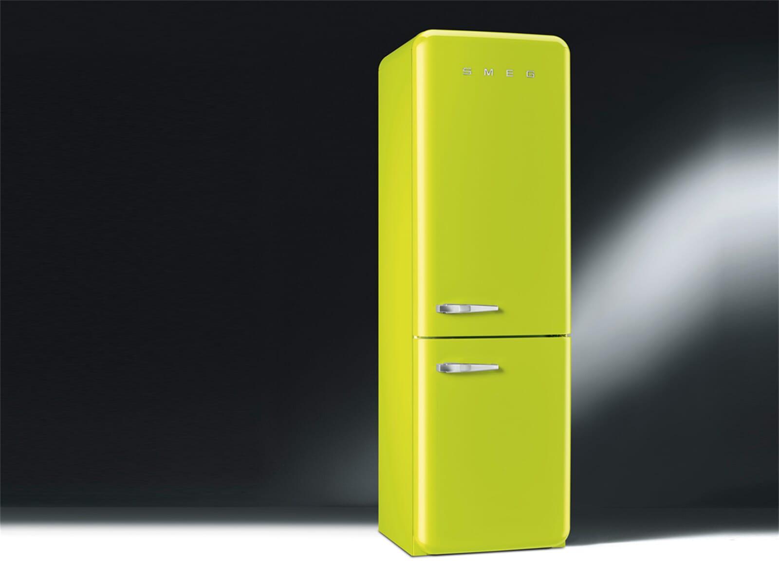 smeg fab32rven1 k hl gefrierkombination apfelgr n. Black Bedroom Furniture Sets. Home Design Ideas