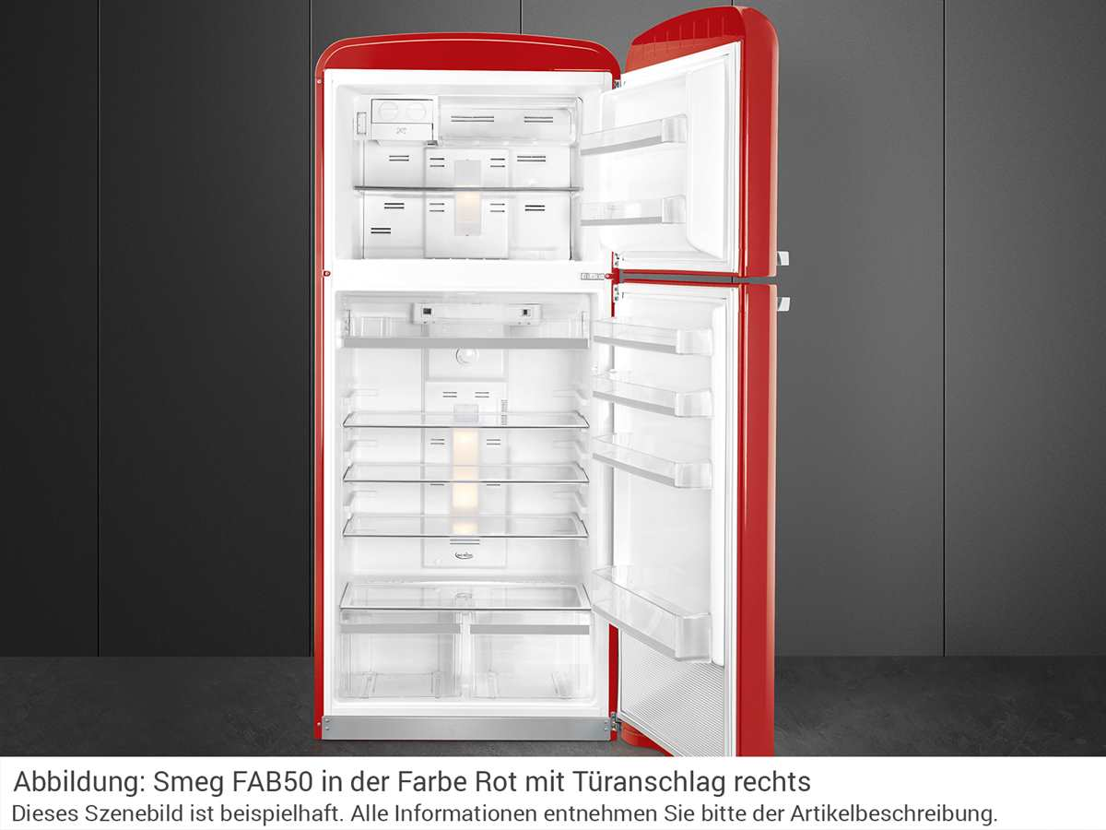 Smeg FAB50RRD Kühl-Gefrierkombination Rot