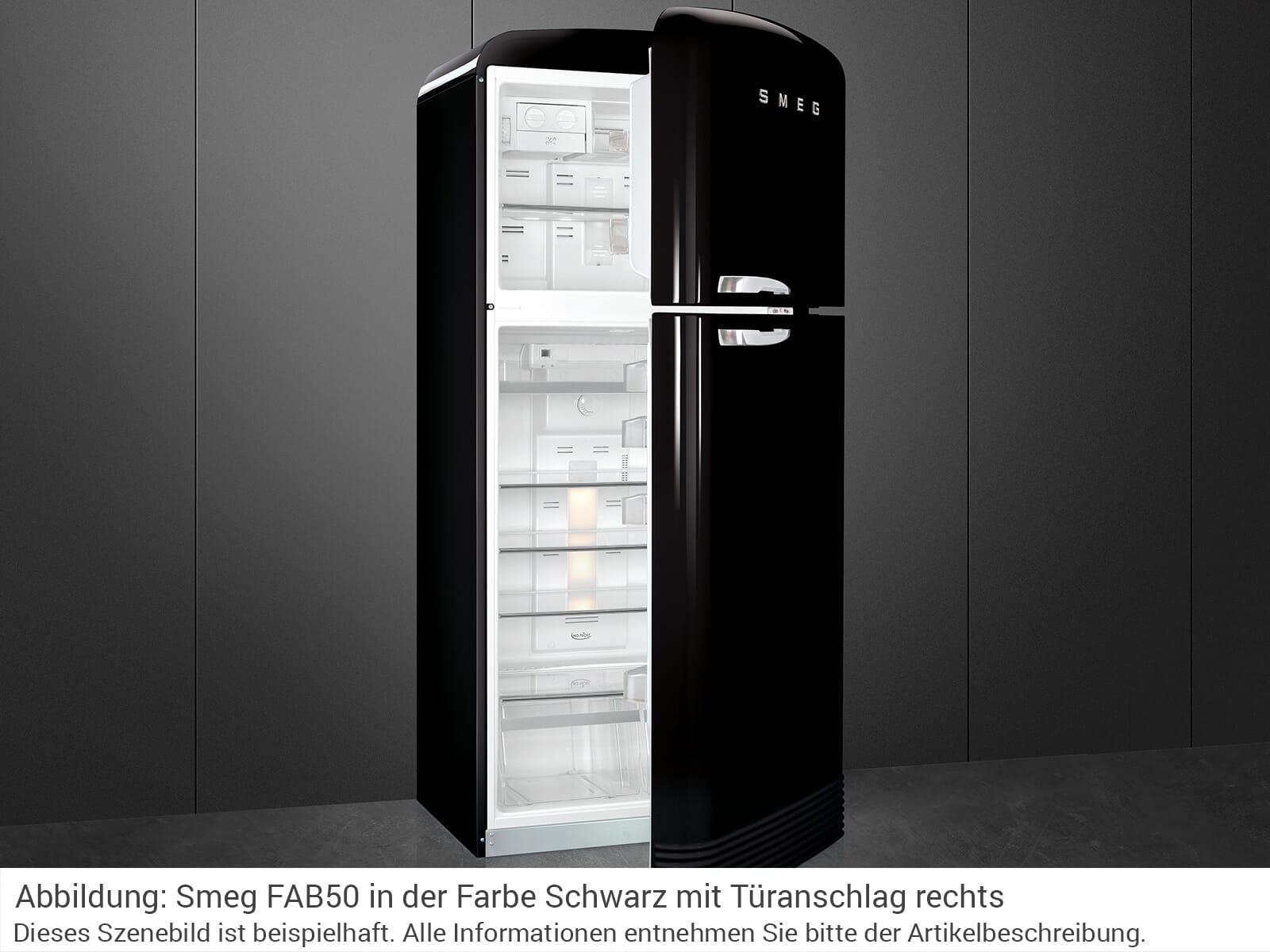 smeg fab50lbl k hl gefrierkombination schwarz. Black Bedroom Furniture Sets. Home Design Ideas