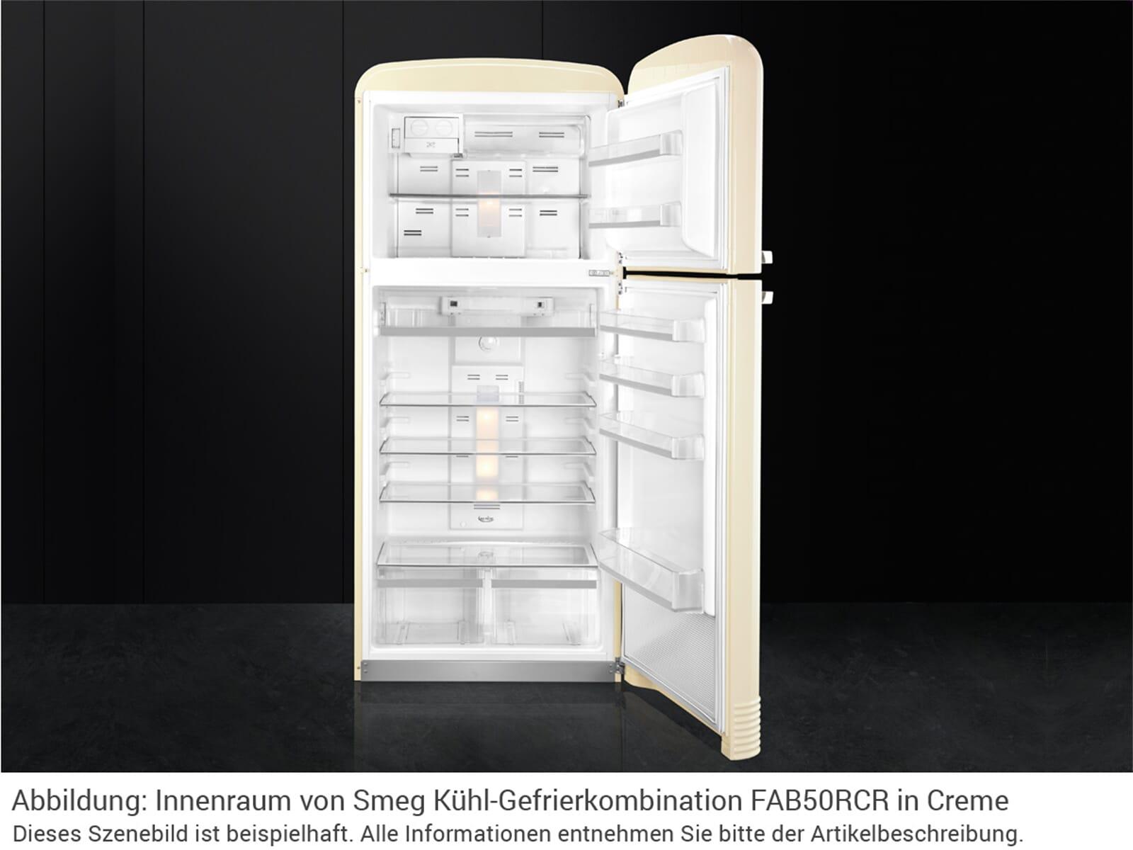 Smeg FAB50LCRB Kühl-Gefrierkombination Creme