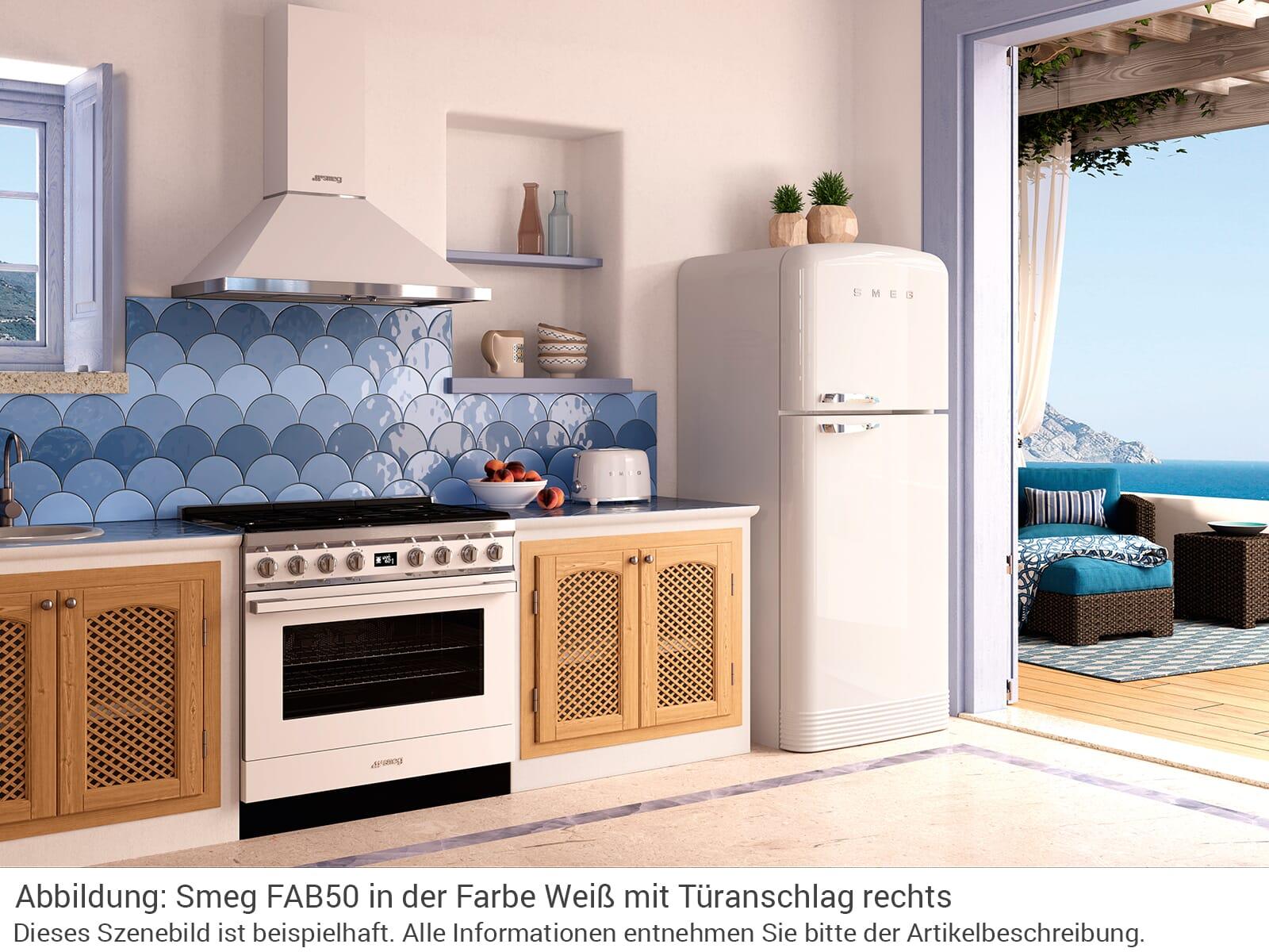smeg fab50lwh k hl gefrierkombination wei. Black Bedroom Furniture Sets. Home Design Ideas