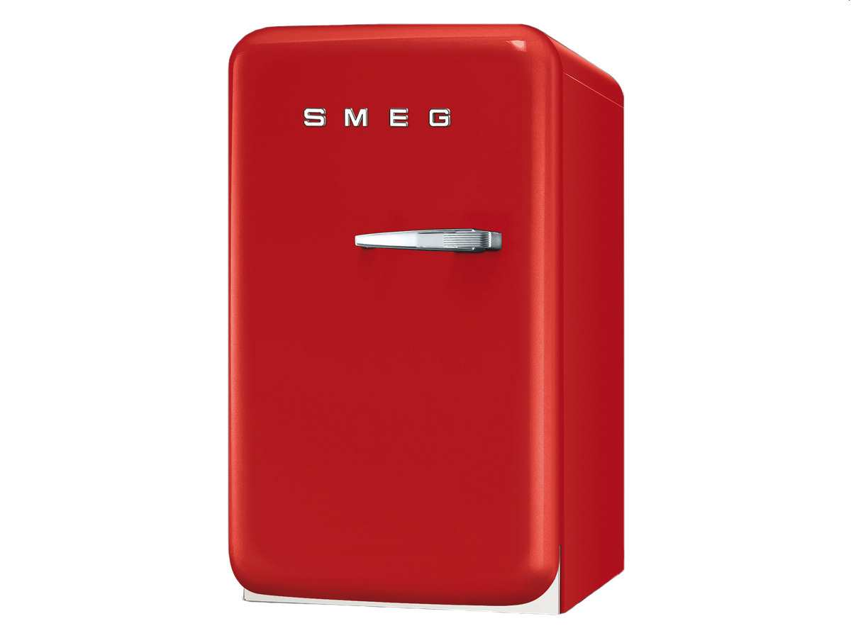 smeg fab5lr1 standk hlschrank rot. Black Bedroom Furniture Sets. Home Design Ideas