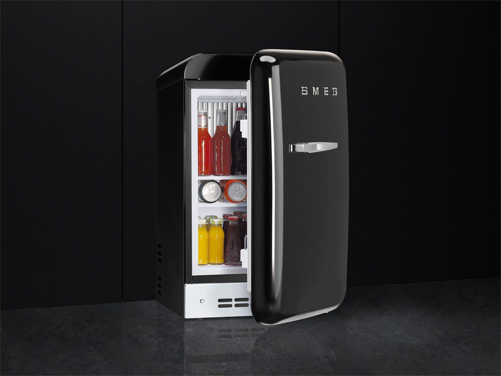 Smeg Kühlschrank Schwarz : Smeg fab5rbl standkühlschrank schwarz