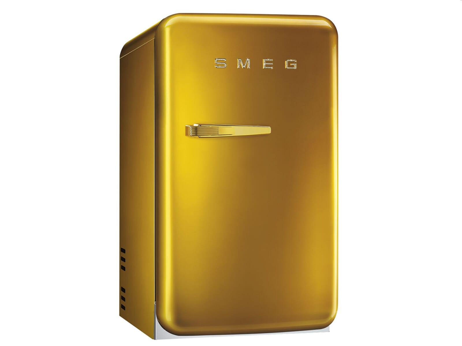 Smeg Kühlschrank Bewertung : Smeg fab rgo stand flaschenkühlschrank gold swarowski