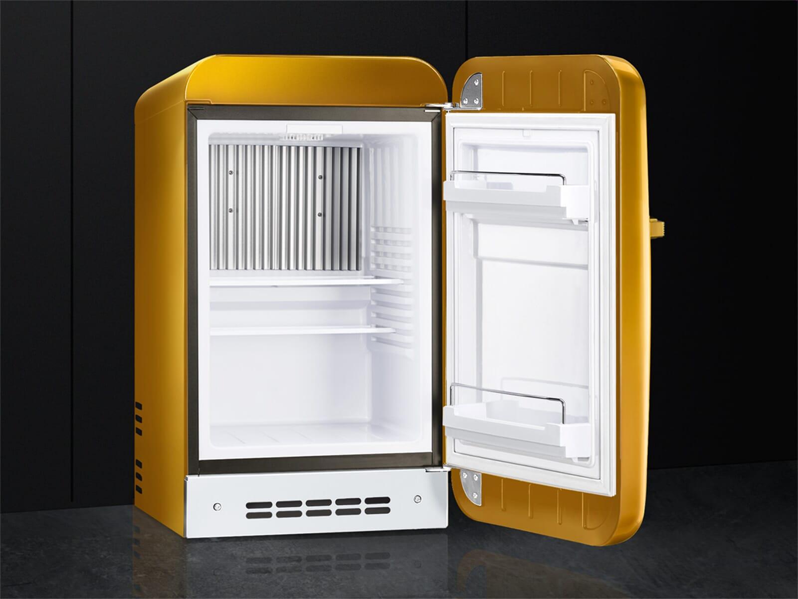 Smeg Kühlschrank Db : Smeg fab5rgo standkühlschrank gold swarowski
