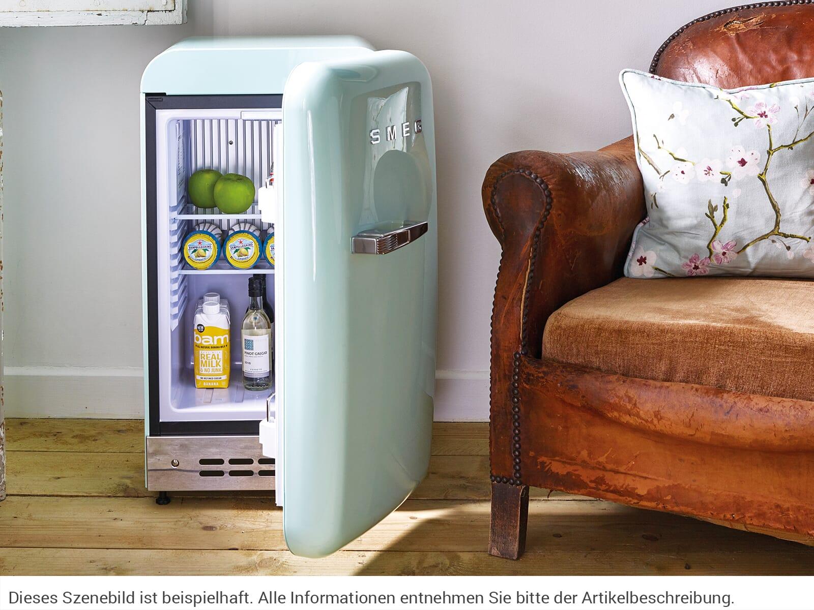 Smeg Unterbau Kühlschrank : Smeg fab5rpg stand flaschenkühlschrank pastellgrün