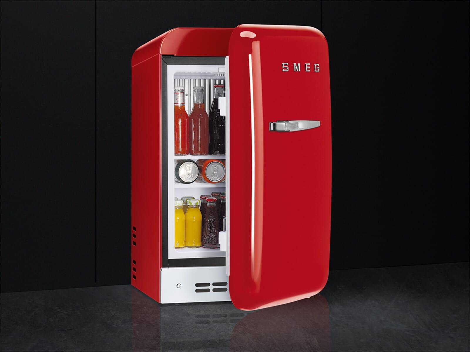 Smeg Kühlschrank Rot : Smeg fab rrd standkühlschrank rot