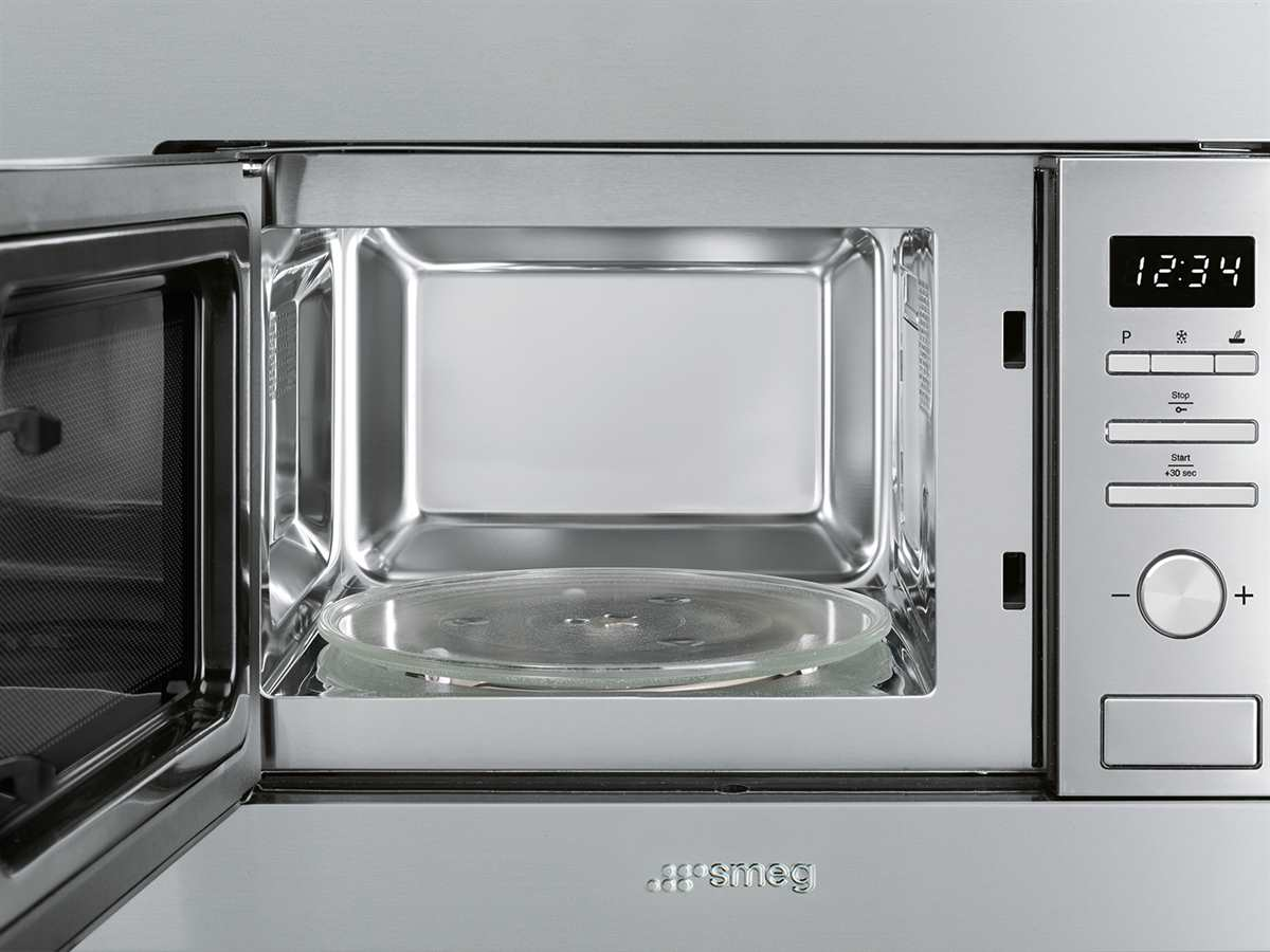 Smeg FMI020X Kompakt Mikrowelle mit Grill Edelstahl