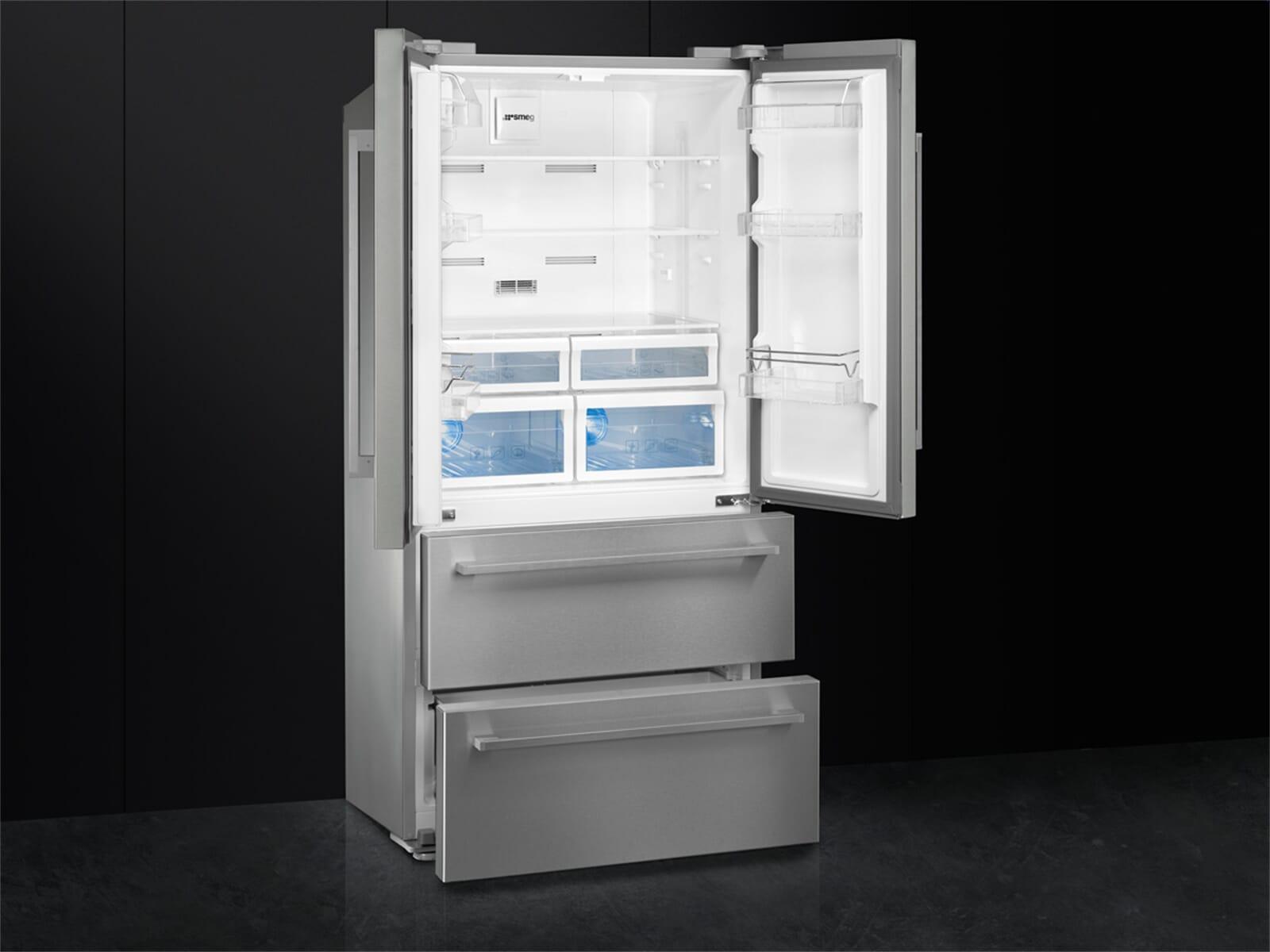 Smeg Kühlschrank French Door : Smeg fq fx pe frenchdoor kühl gefrier kombination edelstahl