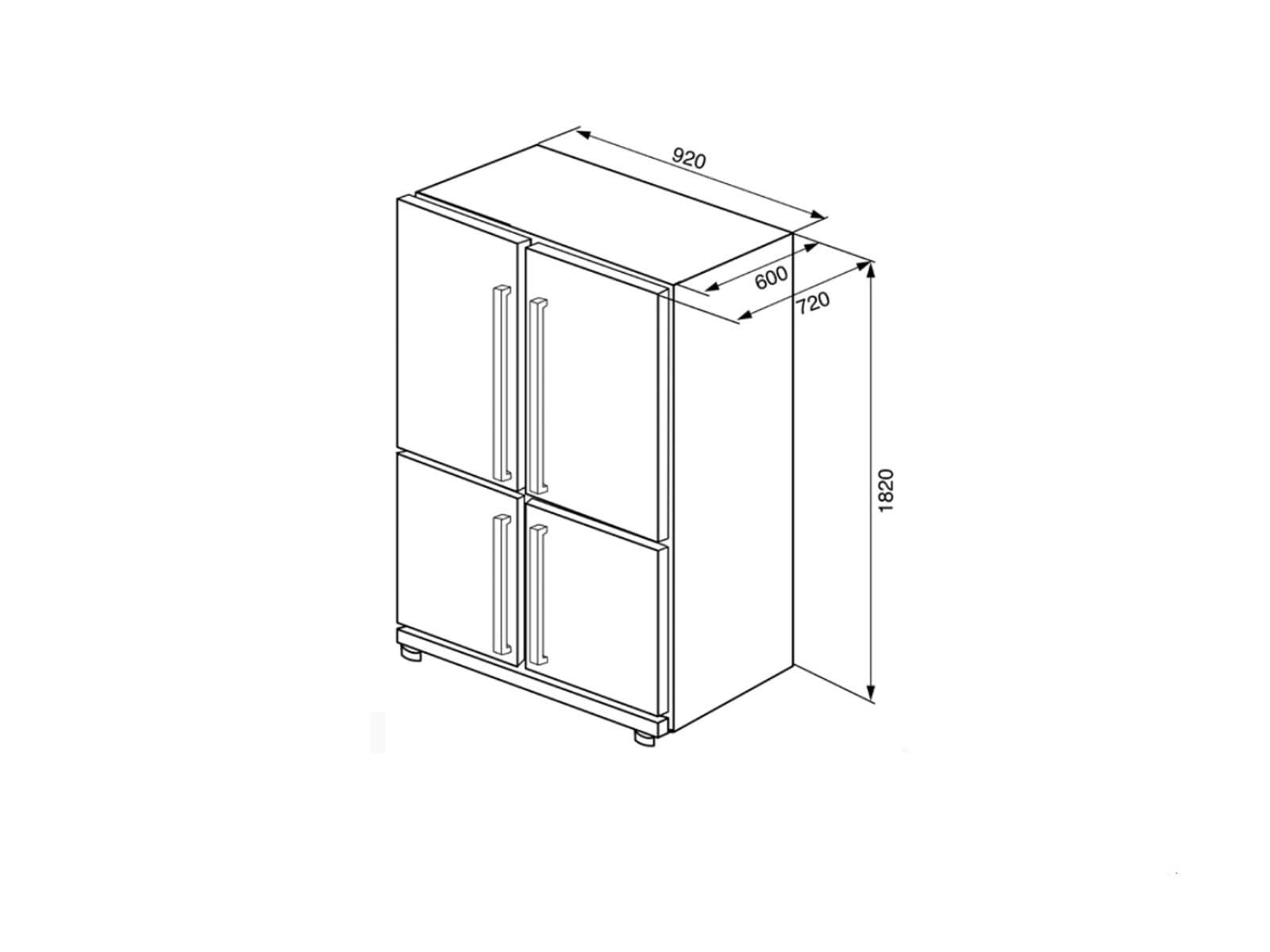 Smeg FQ60XP Side by Side Kühl-Gefrier-Kombination Edelstahl
