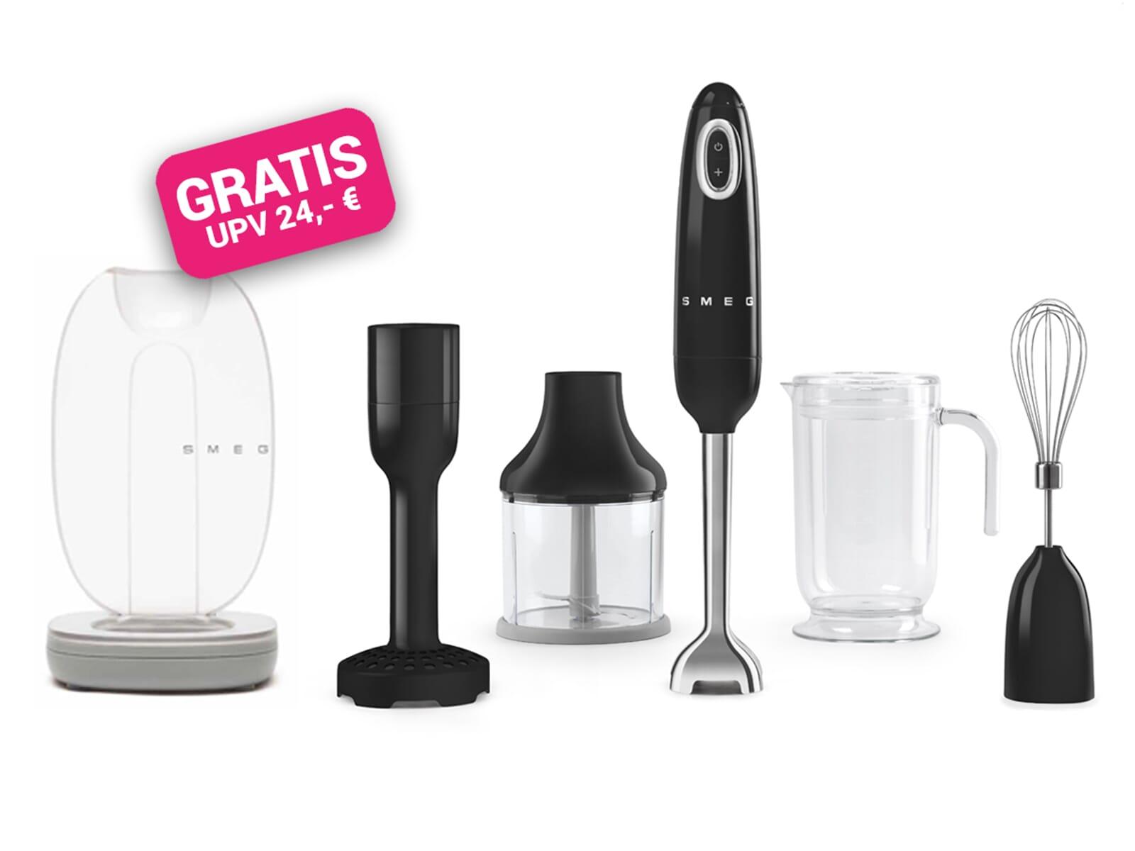 Smeg Kühlschrank Xxl : Smeg hbf bleu stabmixer set schwarz inkl gratis geräteständer hbhd