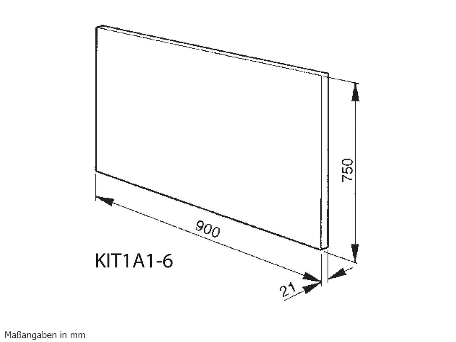 Smeg KIT1A1-6 Rückwandpaneel Edelstahl