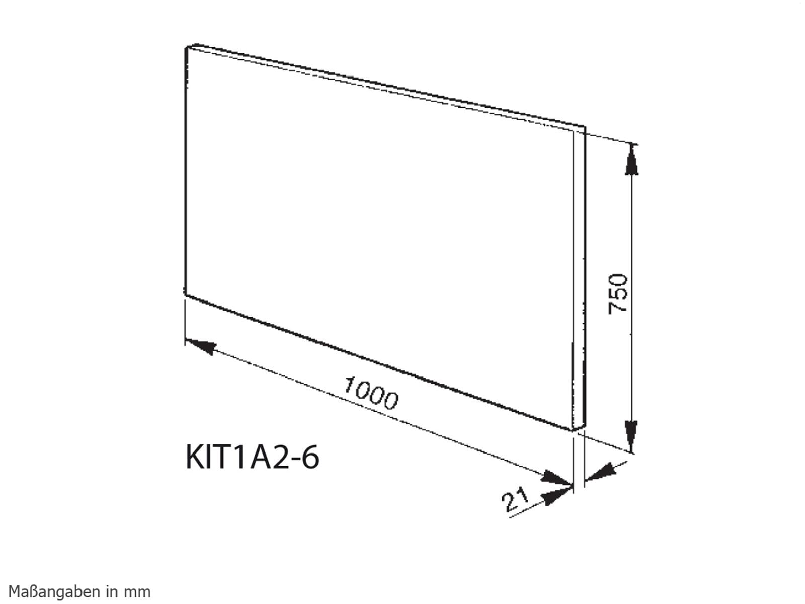 Smeg KIT1A2-6 Rückwandpaneel Edelstahl