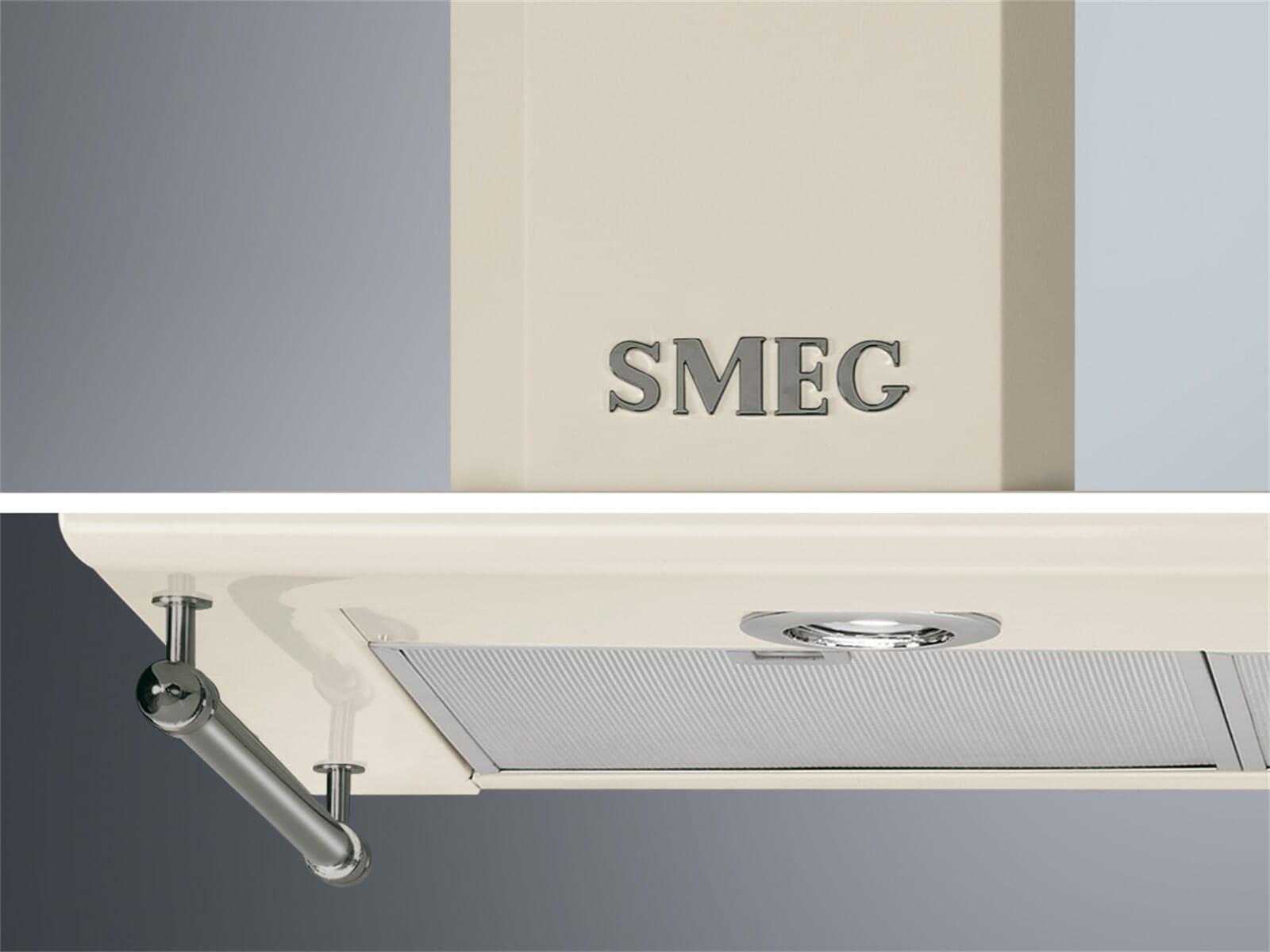 Smeg KITKCS-2 Reling / Smeg-Logo in Silber Antik