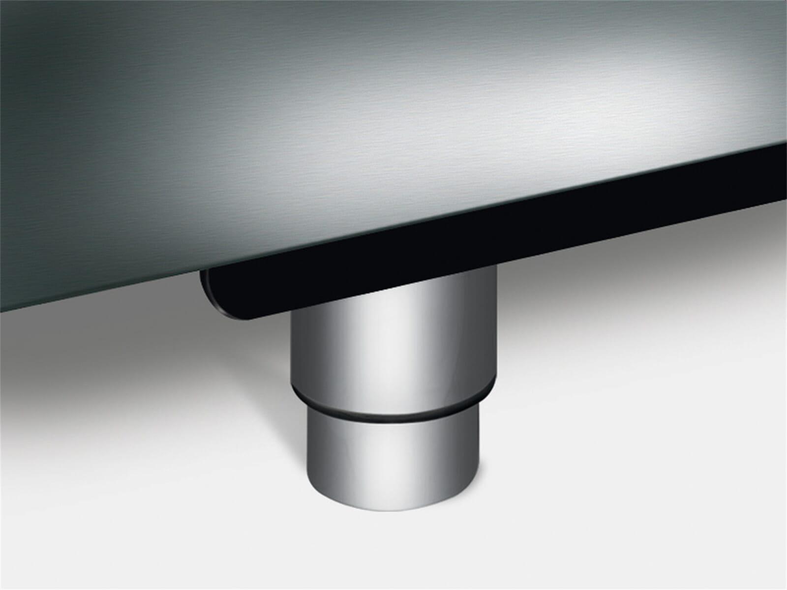 Produktabbildung Smeg KITPAX 4 Stellfüße Edelstahl