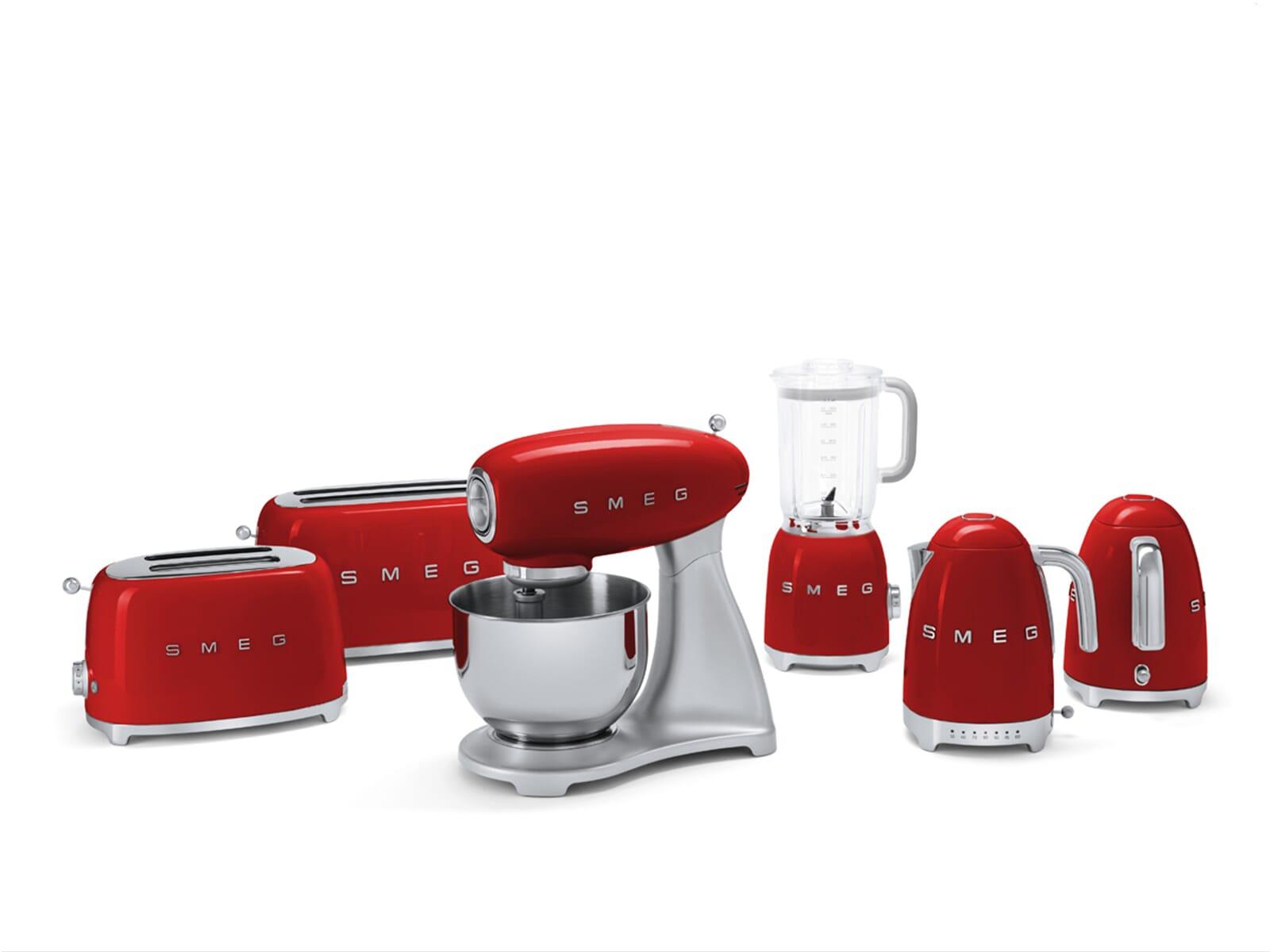 Smeg TSF02RDEU 4-Scheiben-Toaster Rot