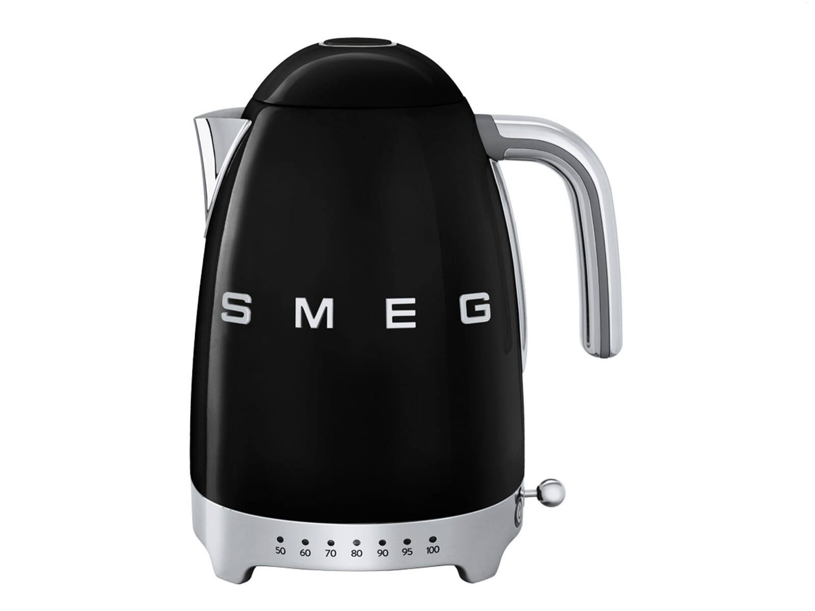 Smeg Kühlschrank Wasser Läuft Aus : Smeg klf bleu wasserkocher schwarz