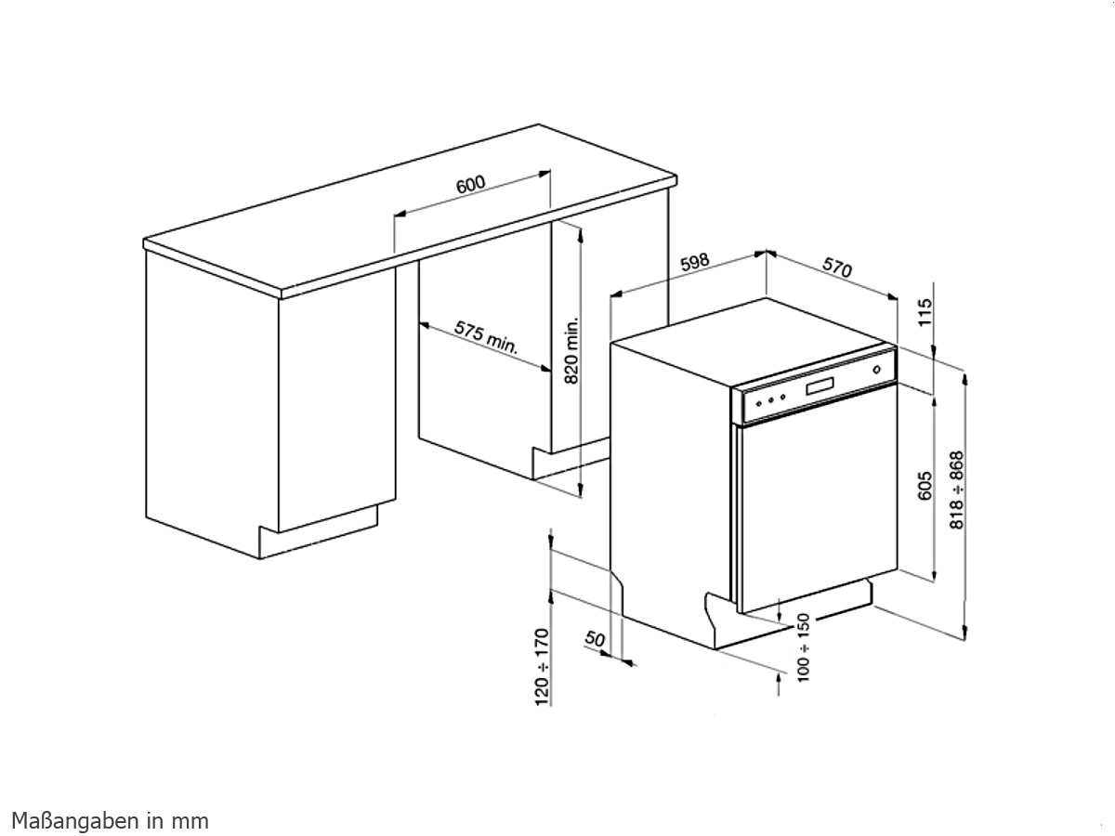 Smeg LSP6448X2 Unterbaugeschirrspüler Edelstahl
