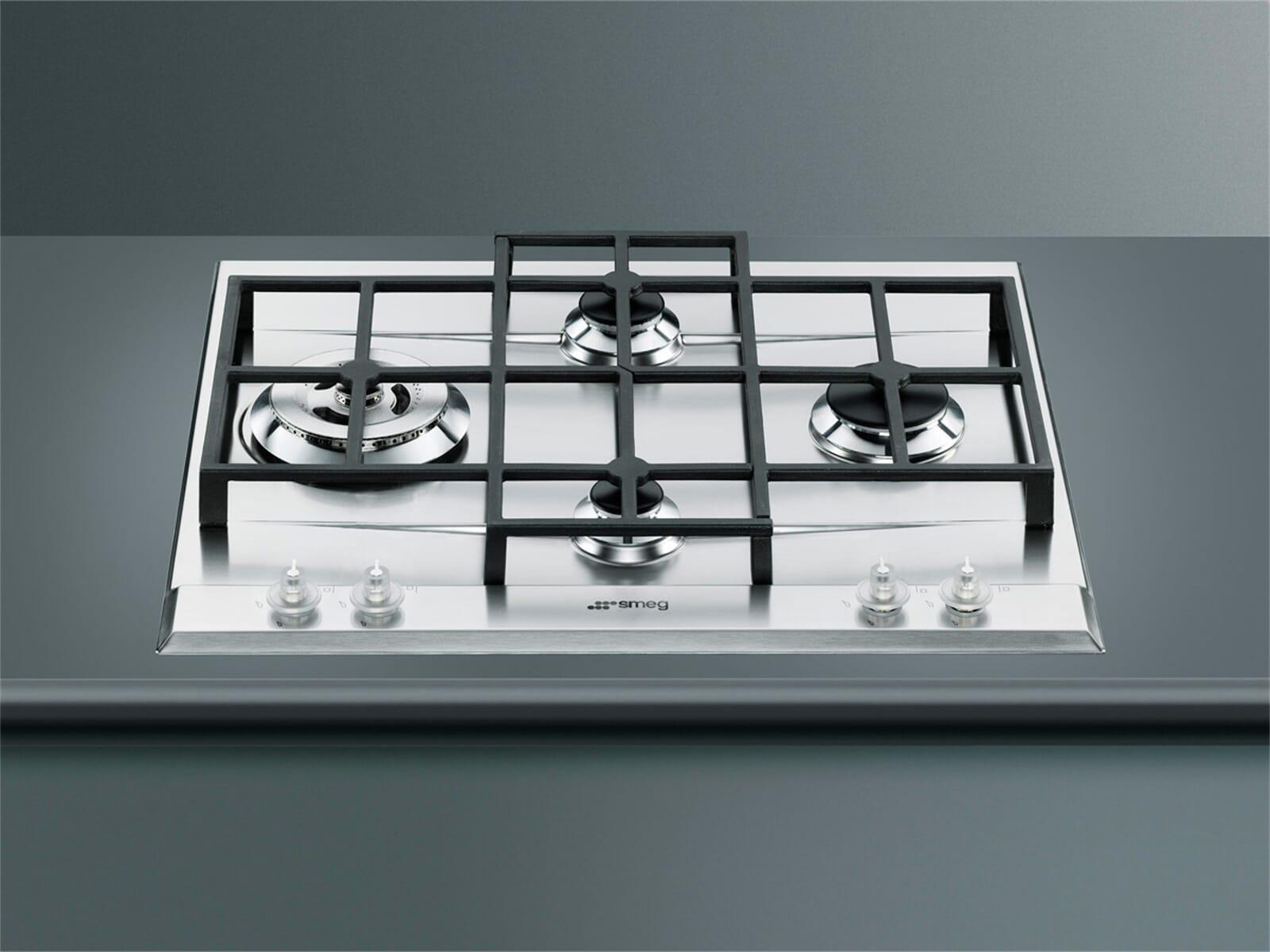 smeg p1641xd edelstahl gaskochfeld autark. Black Bedroom Furniture Sets. Home Design Ideas