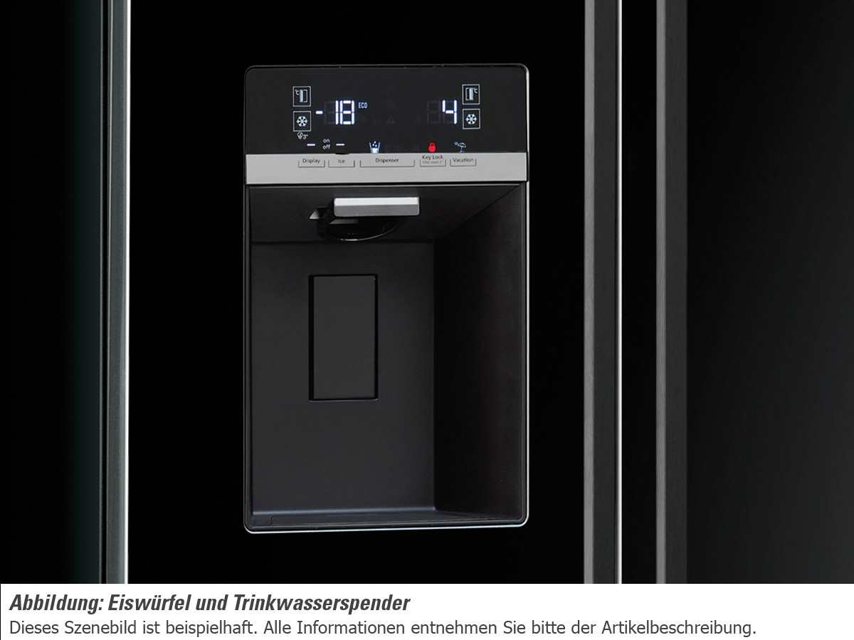 smeg sbs63ned side by side k hl gefrier kombination schwarz. Black Bedroom Furniture Sets. Home Design Ideas