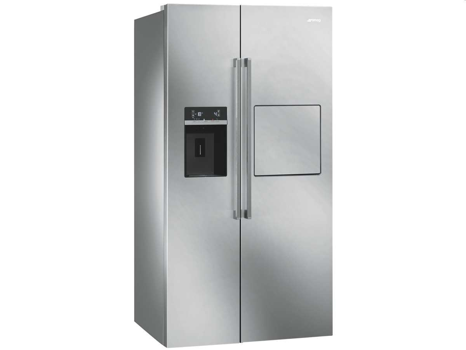 Smeg Kühlschrank Eiswürfel : Smeg sbs pedh side by side kühl gefrier kombination edelstahl