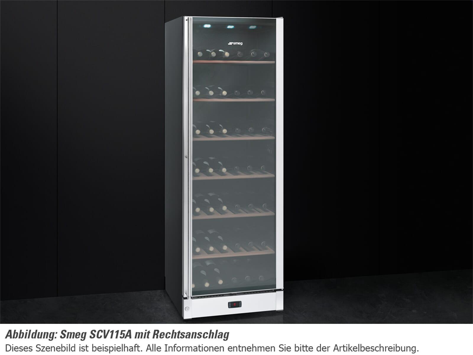 Smeg SCV115AS Stand Weinkühlschrank Weinklimaschrank Edelstahl