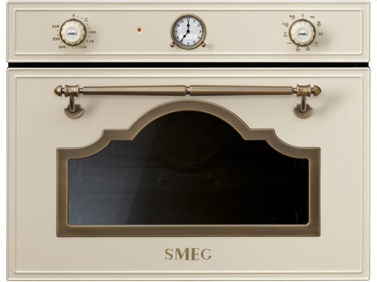 Produktabbildung Smeg SF4750MCPO Kompakt Backofen mit Mikrowelle Creme
