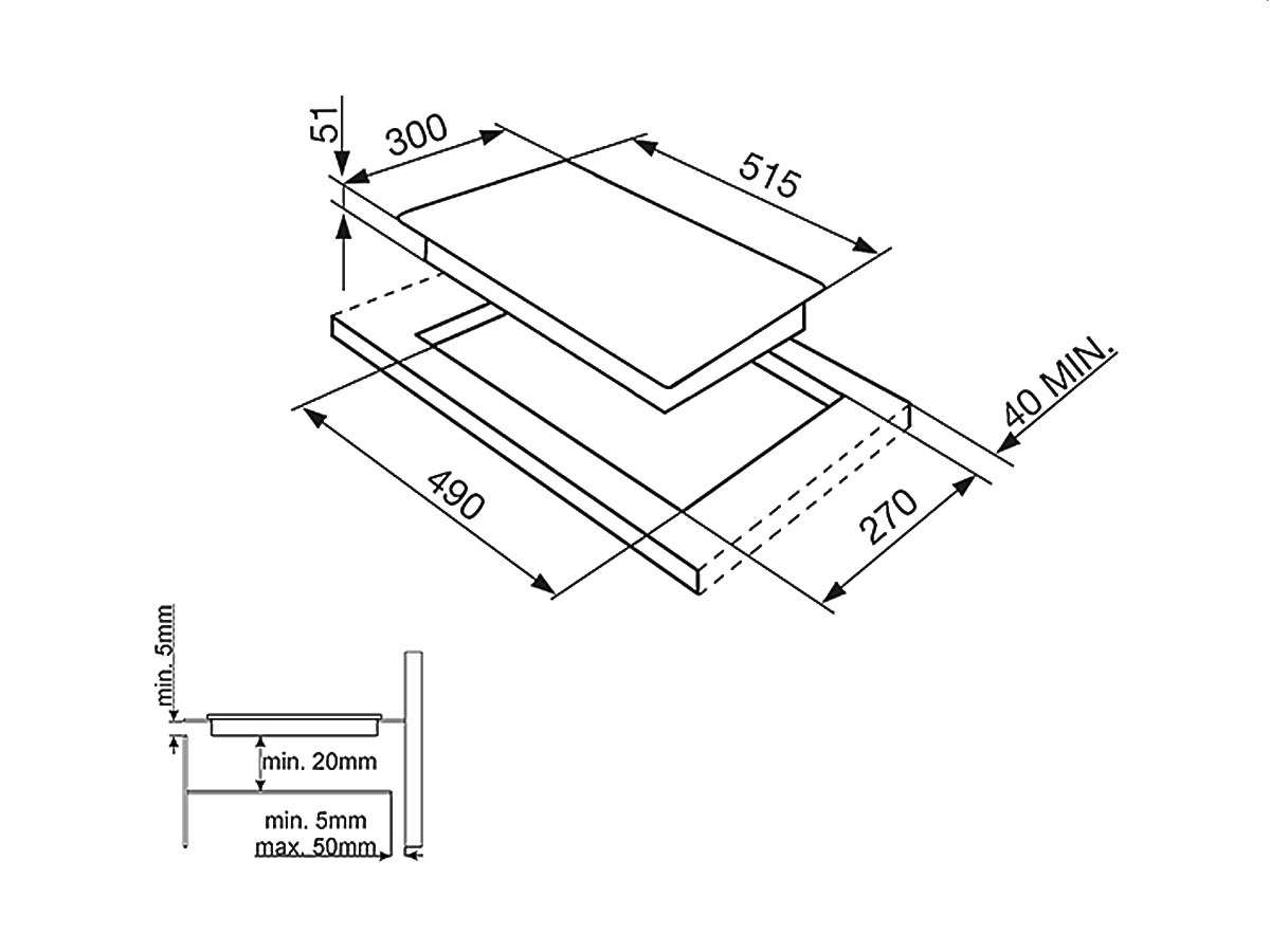 smeg si5322b domino induktionskochfeld autark. Black Bedroom Furniture Sets. Home Design Ideas
