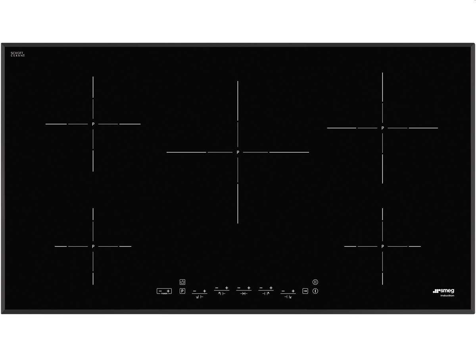 Produktabbildung von Smeg SI5952B Induktion Glaskeramik Kochfeld autark