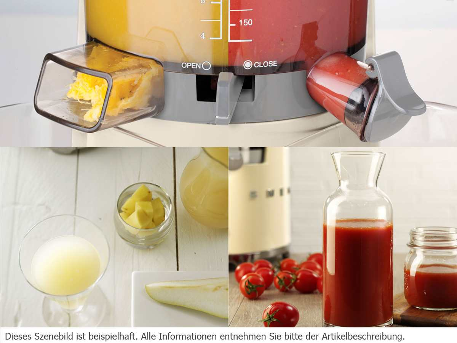 Smeg Slow Juicer Entsafter : Smeg SJF01RDEU Slow Juicer Entsafter Rot
