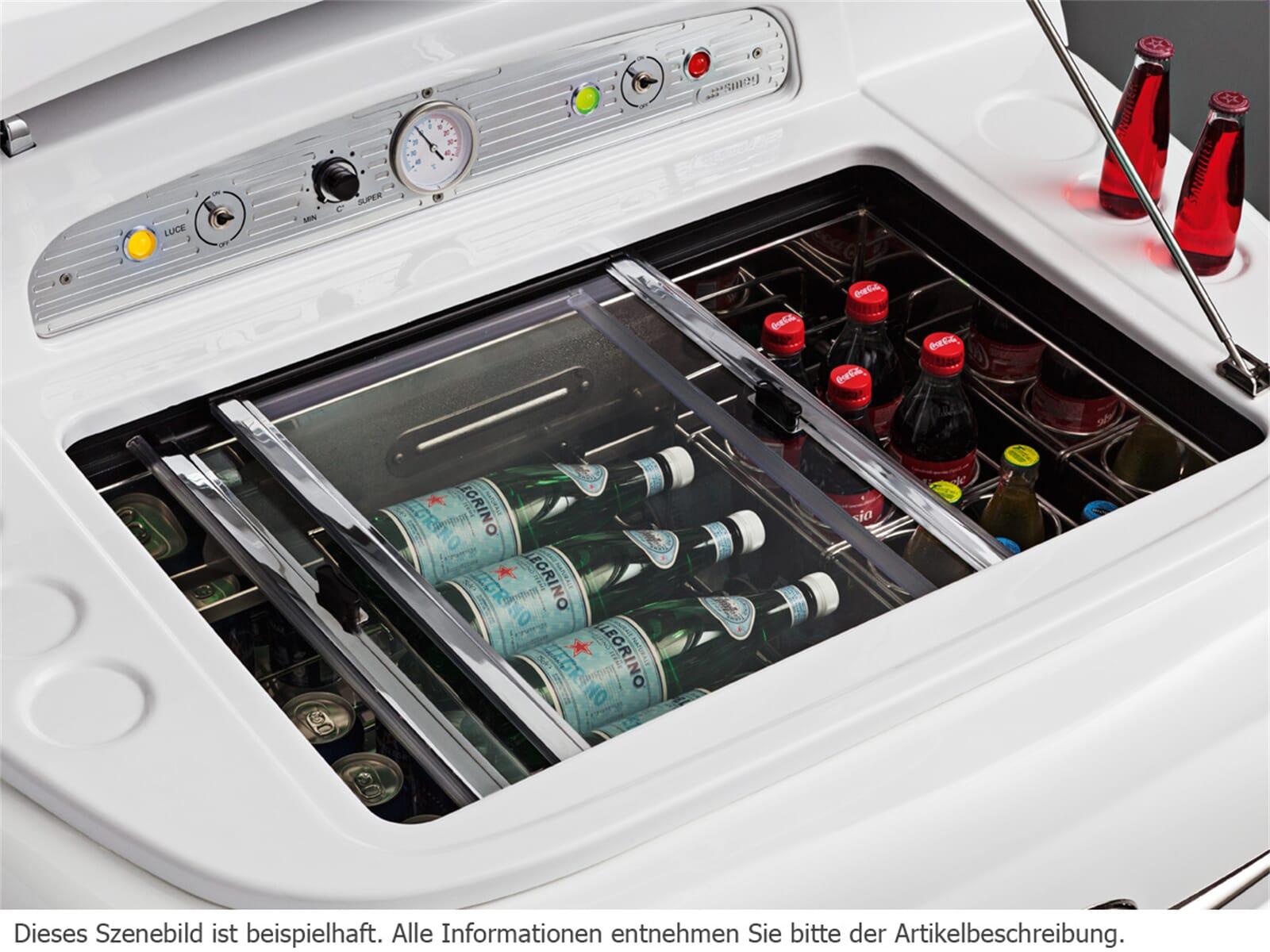 Smeg SMEG500R Stand Flaschenkühlschrank Rot