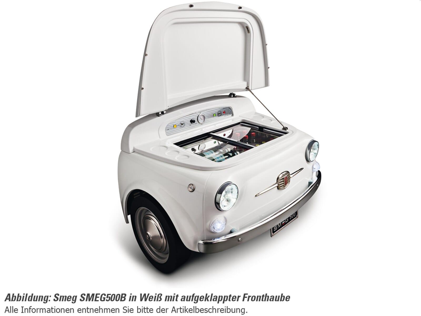 Smeg SMEG500B Stand Flaschenkühlschrank Weiß