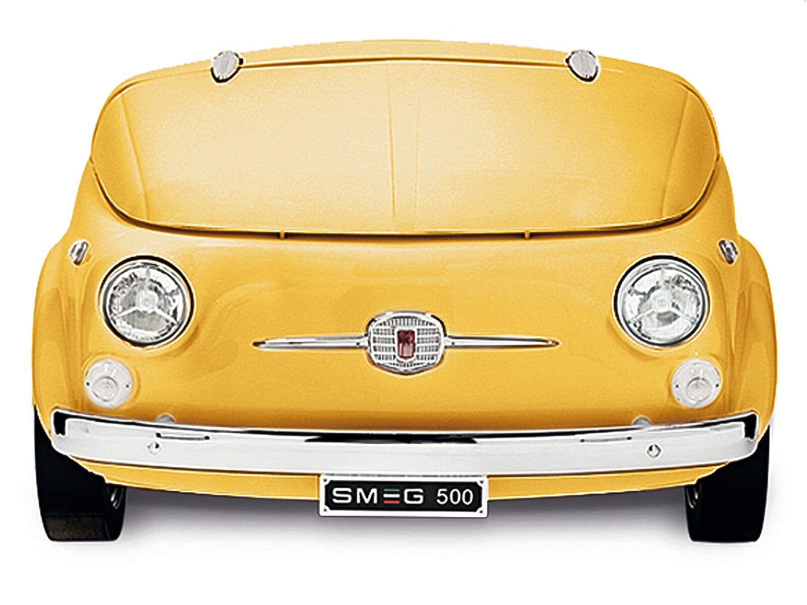 Smeg SMEG500G Stand Flaschenkühlschrank Gelb