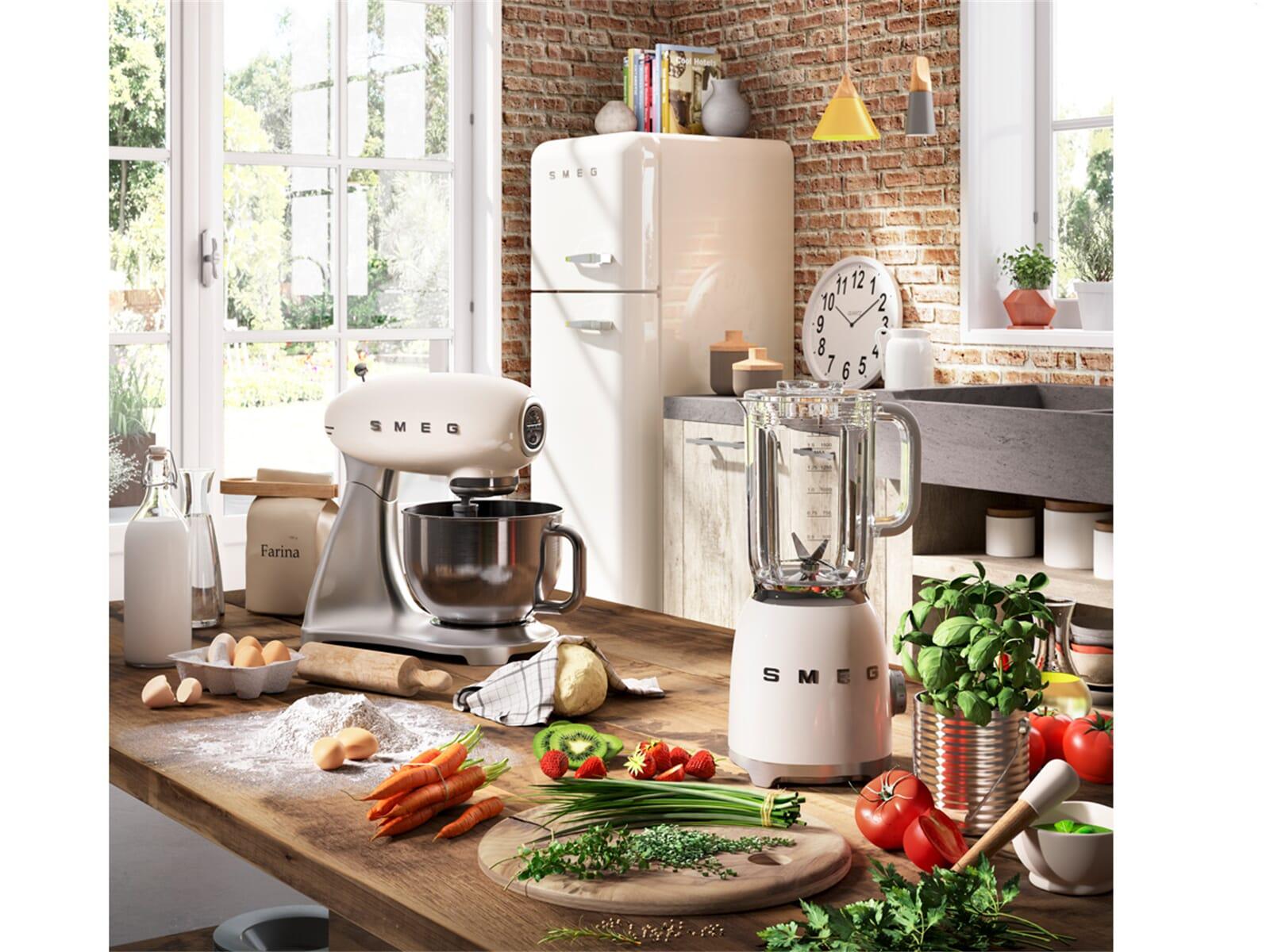 Bosch Kühlschrank Creme : Smeg smf creu küchenmaschine creme