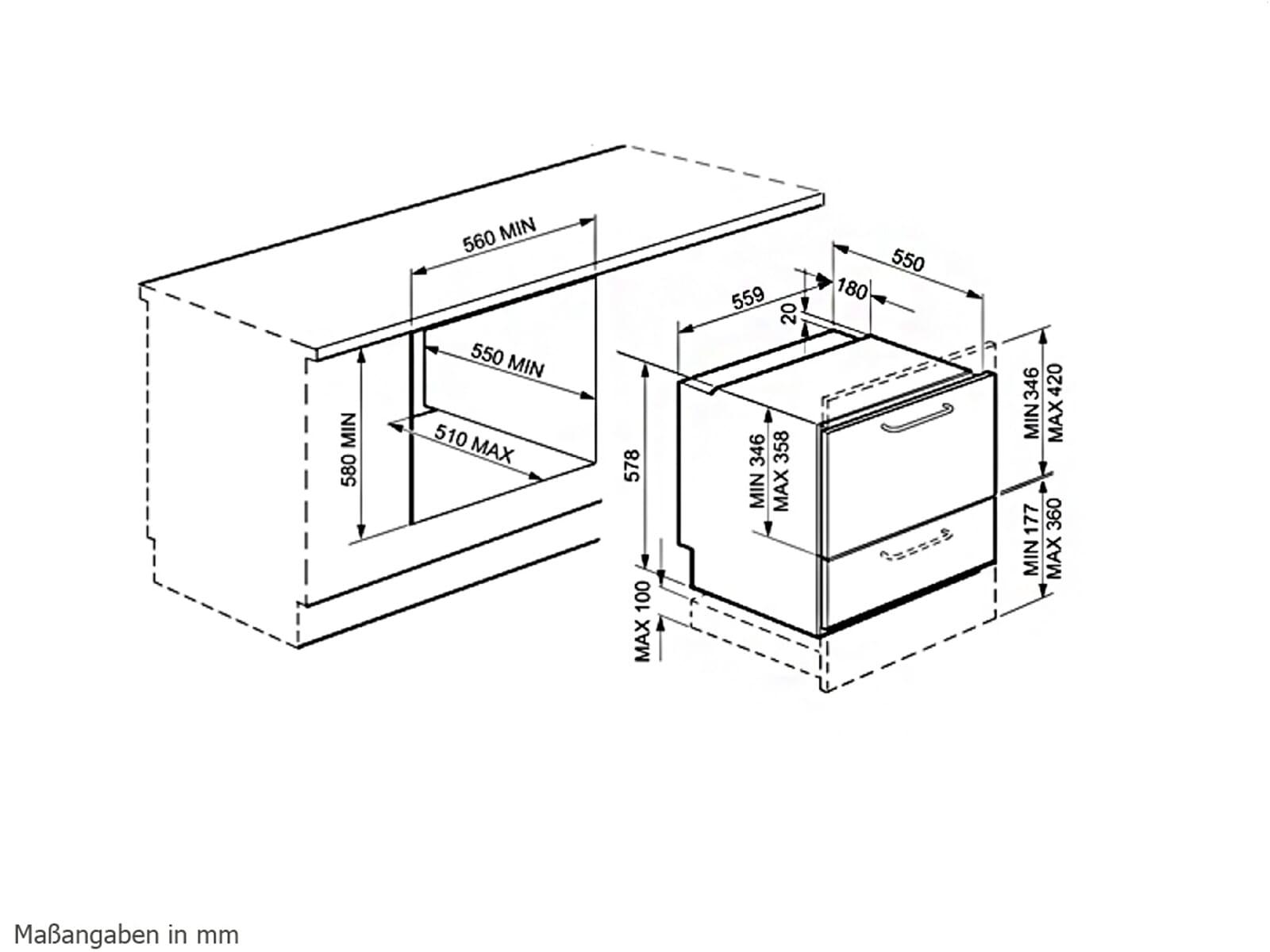 Smeg STC75 Vollintegrierbarer Einbaugeschirrspüler