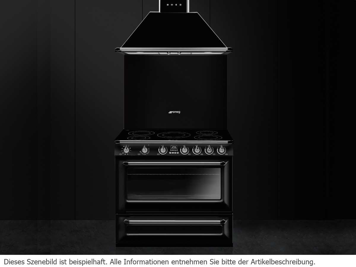 smeg tr90ibl9 induktion standherd schwarz. Black Bedroom Furniture Sets. Home Design Ideas