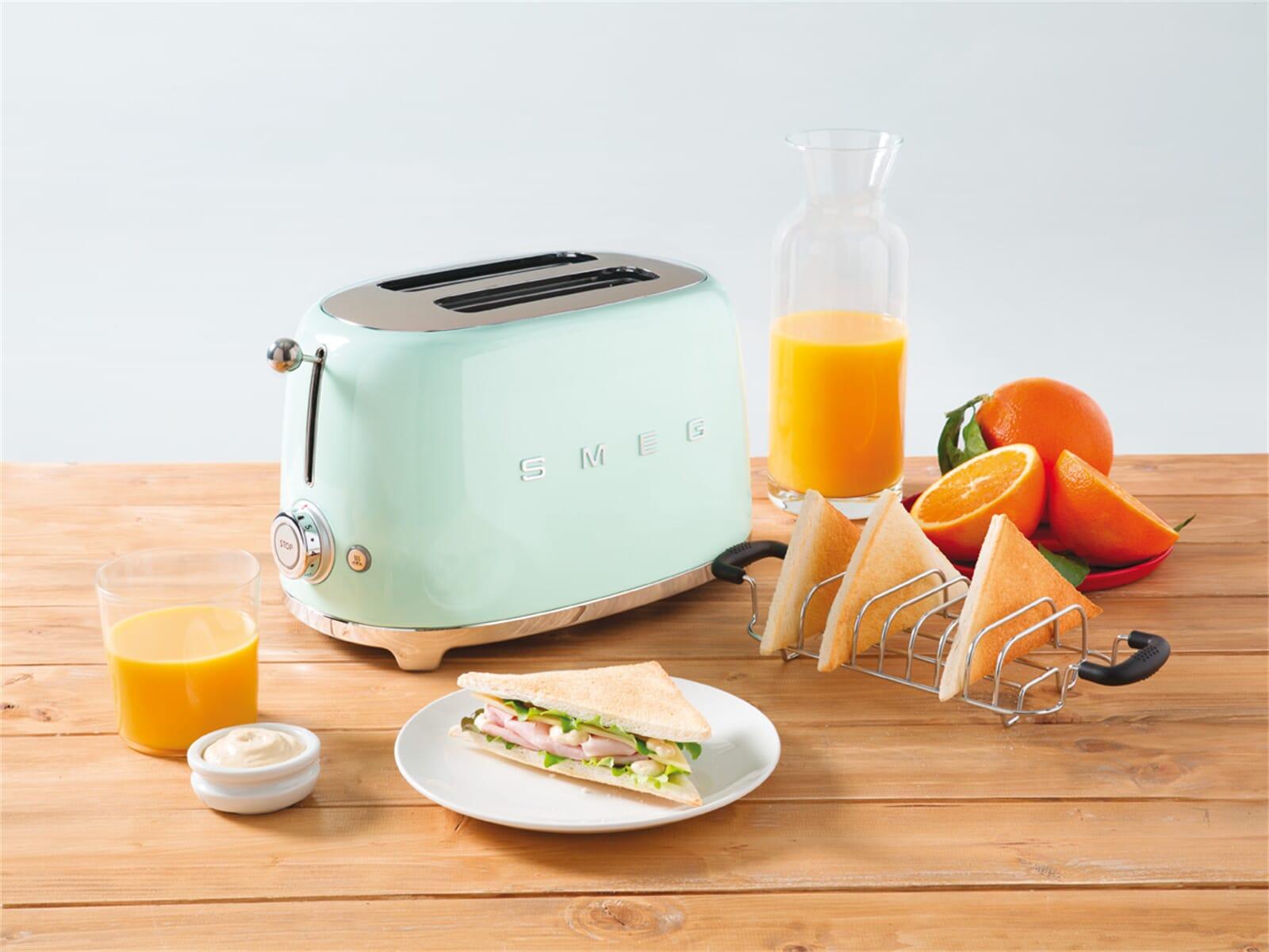 smeg tsfpgeu  scheiben toaster pastellgruen