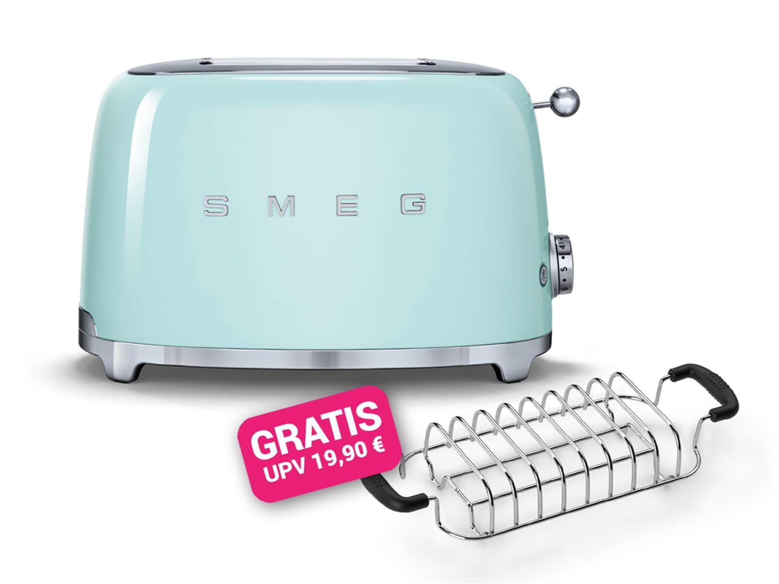 Smeg Kühlschrank Pastellgrün : Smeg tsf01pgeu 2 scheiben toaster pastellgrün inkl. gratis brötchen