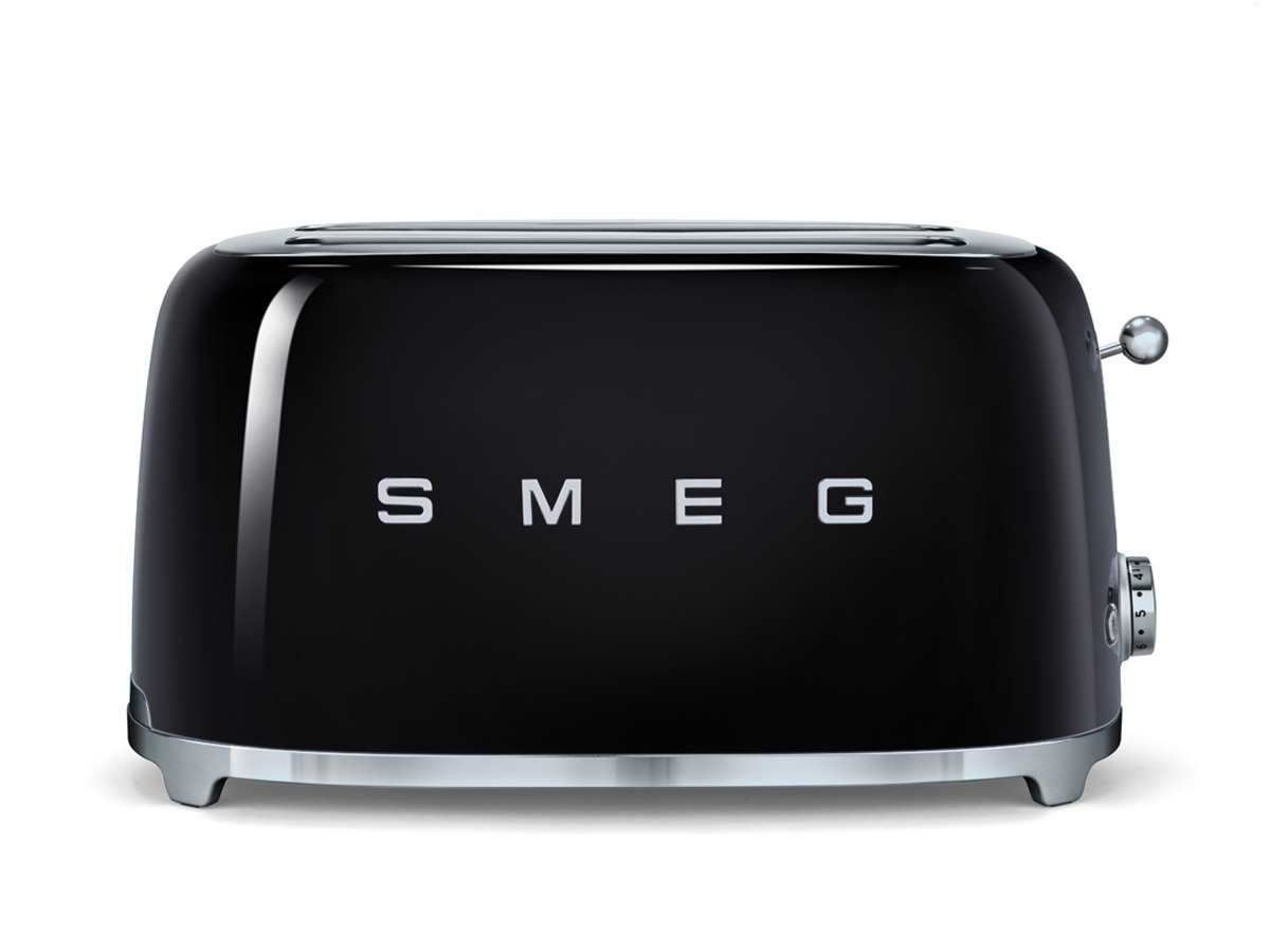 smeg tsf02bleu 4 scheiben toaster schwarz. Black Bedroom Furniture Sets. Home Design Ideas