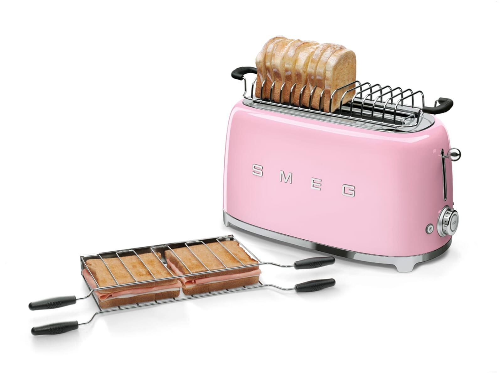 Smeg TSF02PKEU 4-Scheiben-Toaster Cadillac Pink