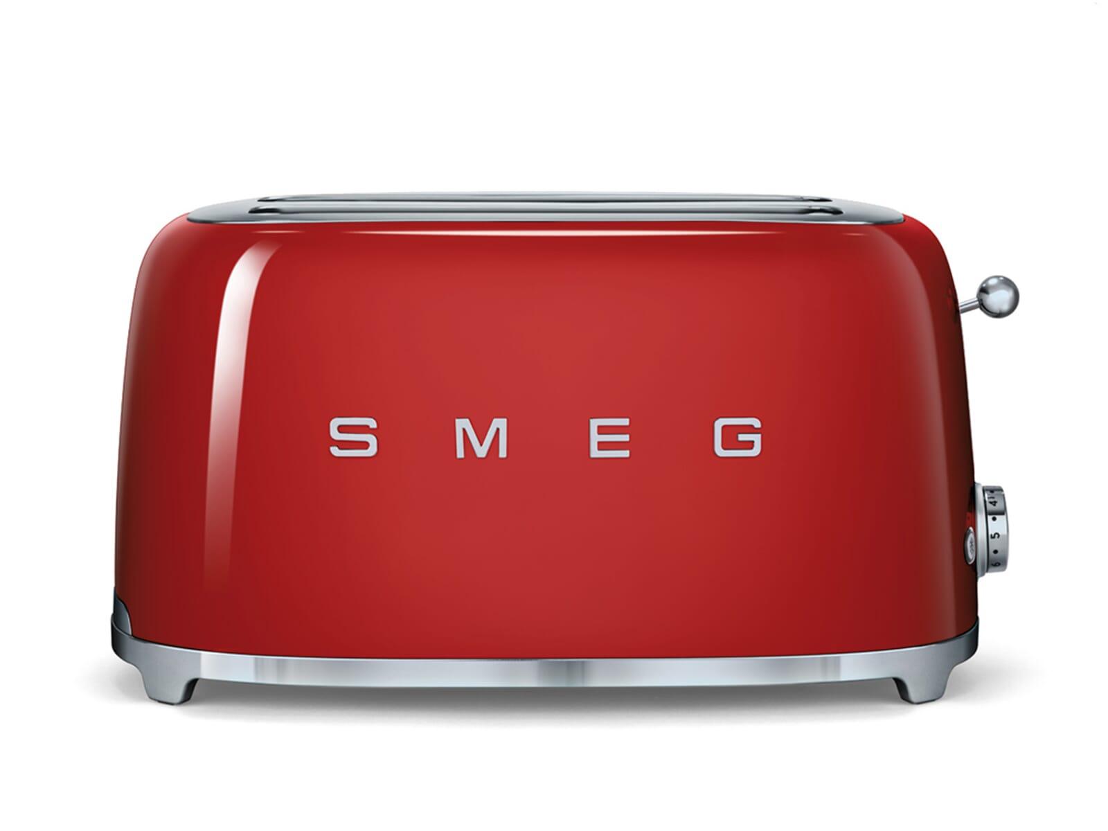 Smeg tsf rdeu scheiben toaster rot
